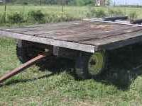 "4 wheel farm wagon with 8'x16' flat 5 lug 15""wheels"