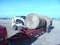 Nearly New Top Hat Hay Trailers 1 Goose Neck 6 Bale