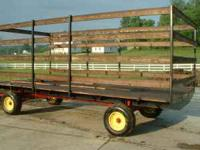 Hay wagon 8`ft x18`ft with 6`ft side rails like new