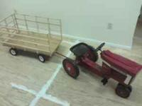 4 wheel hay wagons for behind pedal tractors. Steel