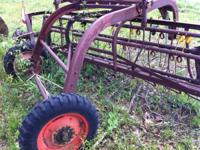 pull type hay rake,ground driven,good condition ,new