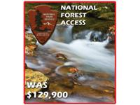 MOUNTAIN CREEK & ADJOINS NATIONAL FOREST! LIQUIDATION