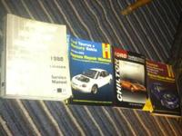 I have four owner/repair manuals. Two of them are for a