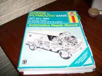Haynes manual for Dodge and Plymouth Vans 1971-1996 All