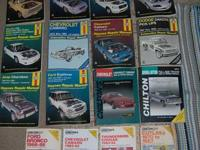 Listing these Haynes & Chilton Repair service Manuals.
