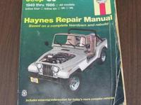 Haynes Jeep CJ Manual 1949 - 1986 $8 Sold the Jeep, now