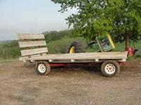 hayrack, cherokee running gear, floor and tires good,