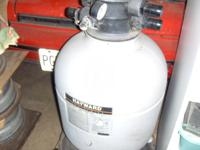 hayward sand filter, 1 hp hayward motor & pool
