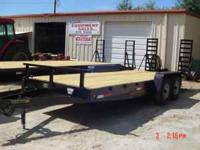 New 7x20 HD 6ton equipment trailer. 2-6000lb. brake