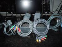 2 HD COMPONENT CABLES FOR X-BOX 360 & X-BOX 360 POWER