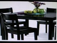THIS IS BRAND NEW HD ECCO 5-PC DINING SET-BLACK STILL