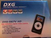 high definition video camera, has usb plug to upload