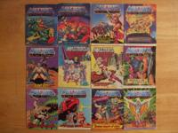 He-Man Mini Comic Books/Storybooks/Records Lot -This