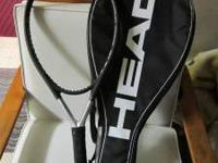 Head Ti S6 tennis racquet (unstrung) with cover is on