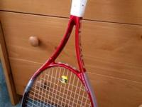 Racquet is brand new never used or even a hit. Grip