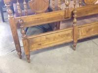 Used Condition...nice wood and style...comes with rails