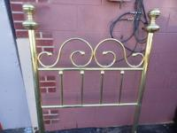 Gold Plated Single Headboard  GENTLY USED Open