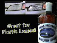 Uncle Pooter's Headlight Sauce is a headlight cleaner