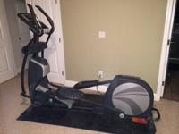 The HealthRider H95e is a mid-level elliptical trainer.