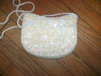 Heart Purse - Sequence on one side with hearts/other