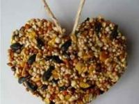 Bird Seed Heart ornament favors for weddings, shower,