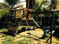 A durable, in good condition, play structure looking