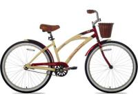 The women's Kent La Jolla Cruiser Bike is styled in a