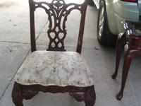 $50 or best offer This chair is heavily carved with