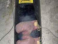 Everlast LEATHER Heavy punching bag. This is the real
