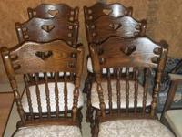 Heavy Built Newly Padded Solid Wood Chairs (3) $25 each