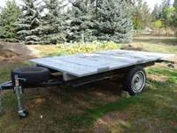 Nice 11x7 flatbed trailer with heavy duty metal frame