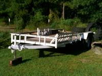 Flatbed trailer homemade by welder for oil companies.