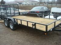 2013 QUALITY HEAVY DUTY UTILTY TRAILERS, TANDEM 3500#