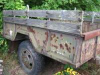 9' by 6' heavy duty army trailer with high clearence