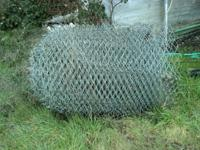 Heavy Duty, 9 gauge, 2 inch, chain link fence mesh.