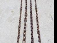 Old heavy duty chains, as follows;. 24', get hold of