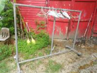 Heavy duty inch and 3/4 pipe. Rack is 7 feet long and