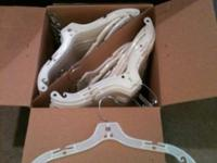 "Very nice new heavy duty 17"" dress hangers. Also work"