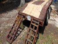 Upgraded extra heavy duty tag equipment trailer! Was