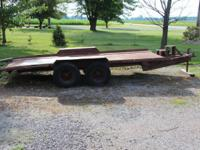 Heavy Duty Equipment 15' Trailer Up for sale is a Heavy