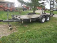 Shop built, heavy duty, excellent quality flatbed