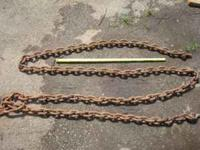 I have two heavy duty log chains. One is a lot heavier