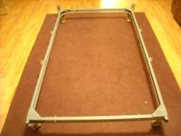 Older heavy metal frame that fits twin or 3/4 size and