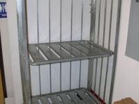 Shelving Metal, 2 shelf, heavy duty cart, with wheels.