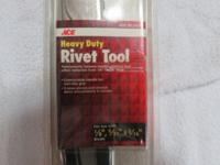 "Brand new Ace Heavy Duty Rivet Tool. For use with 1/8"","