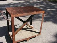 Extremely Heavy Duty Steel Work Table. Measures 2 feet