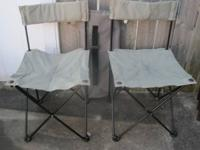 Heavy Duty Sport Camp Folding Chairs (2) with Carry Bag