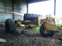 Heavy Duty 3 wheel cart used for spray tank. Cart will