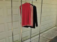 Heavy task tall clothing rack for sale. About 6 mos.