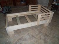 "TODDLER BED FRAME Extra Heavy Duty, Built with 2"" X 6"""
